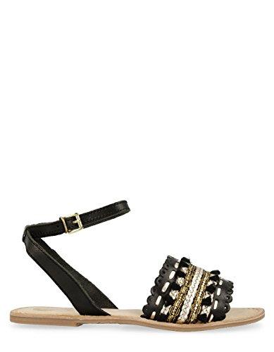 Gioseppo Ethnic Black Sandals Rimachi by (38 - Black)