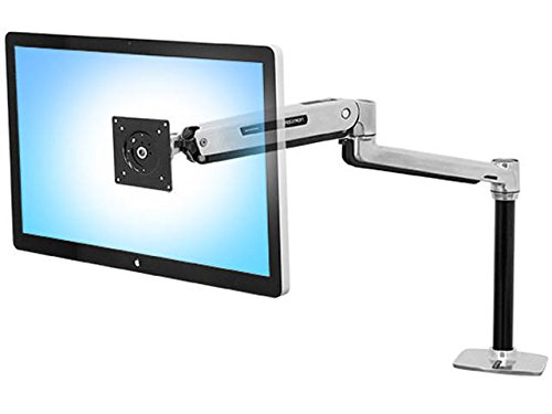 Ergotron 45360026 LX Sit-Stand Workstation Mount LCD Arm, Polished Aluminum - Aluminum Lcd Stand