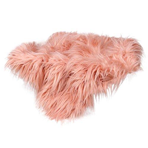 - Staron Newborn Baby Blanket Photography Props, Kids Infant Boy Girl Faux Fur Stuffe Background Photo Soft Blanket Wrap Rug (Pink)
