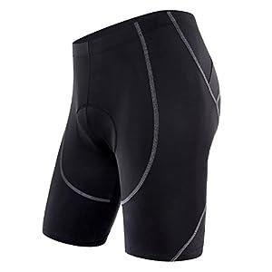 Sportneer Men's Cycling Shorts 4D COOLMAX Padded Bike Bicycle Pants Tights, Anti-Slip Design, Breathable & Absorbent by Sportneer