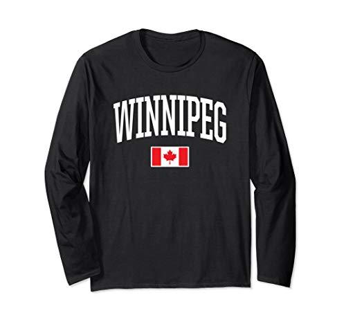 Eh Team Canadian Flag Winnipeg Canada  Long Sleeve T-Shirt