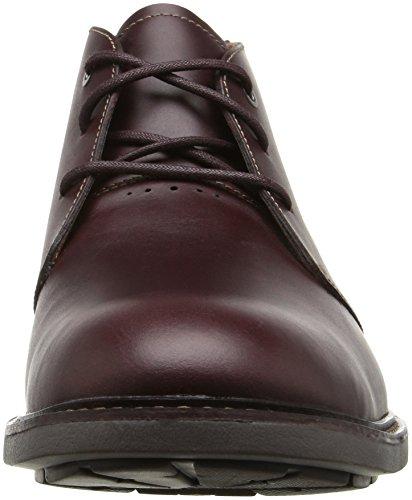 CLARKS Mens Unelott Mid Chukka Boot Burgundy Leather 4uKP9lD
