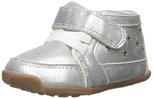 (Carter's Every Step Girls' Stage 3 Walk, Cora-WG Sneaker, Silver, 4.0 M US (12-18 Months))