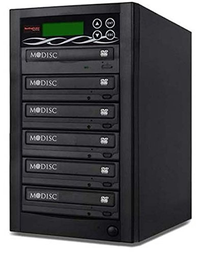 Bestduplicator BD-SMG-5T 5 Target 24X SATA DVD Duplicator with Built-In 1 to 5 M-Disc Support Burner by BestDuplicator