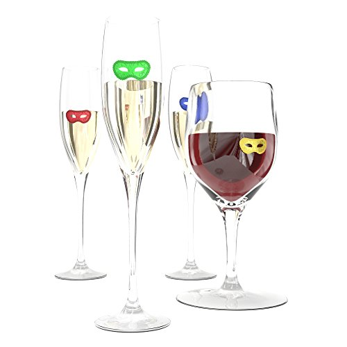 """HouseVines Silicone Wine Tasting Charms for Glasses""""50 Shades"""" Style (12 Charms in each Pack) ~ Gifts for Wine Lovers"""