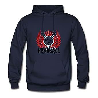 Handball_a_3c Hoody Shirts X-large Women Custom-made Navy