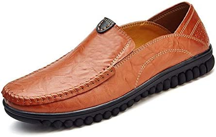 運転クラシック快適な男性カジュアルシューズローファー男性の靴品質分割革の靴男性フラットステッチ通気性層内側ラグソール唯一のスーパーソフトソール