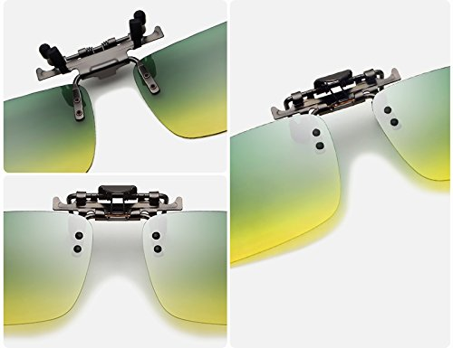 Jour sur Lunettes Lunettes Nuit Clip Soleil de Conduite ZX Lunettes TAC Hommes Polarisées Day night Myopie UV and Nocturne Lunettes Vision Protection de qPp4E