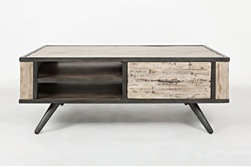 Jofran: 1640-1, American Retrospective, Rectangle Coffee Table, 48″W X 24″D X 19″H, Grey Wash Finish, (Set of 1) For Sale