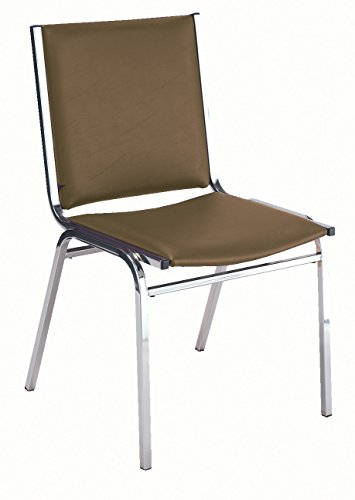 KFI Seating 410 Armless Stacking Chair, Commercial Grade, 1-Inch, Brown Vinyl, Made in the USA