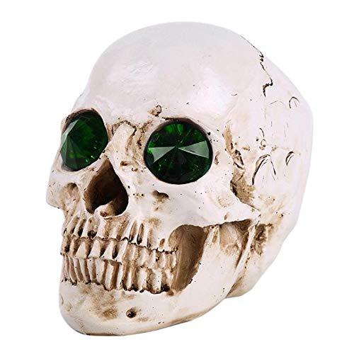 SaveStore Human Head Resin Replica Medical Model Life Size Halloween Home Decoration Decorative Craft Skull Party Decor -
