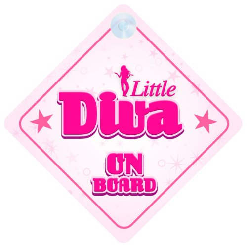 Little Diva On Board Car Sign New Baby / Child Gift / Present / Baby Shower Surprise ()