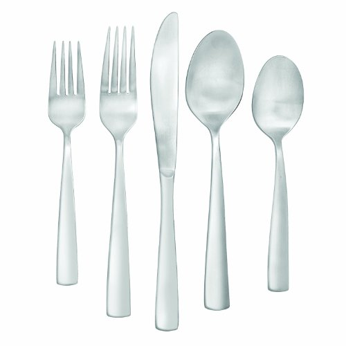 Farberware Cayenne Satin 20-Piece Flatware Set, Service for 4