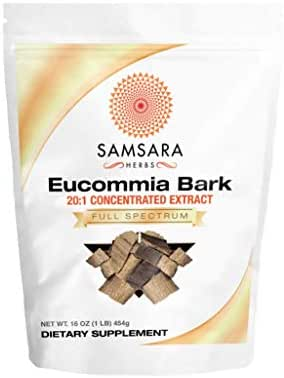 Samsara Herbs Eucommia Extract Powder - 20:1 Concentrated Extract (16oz/454g)