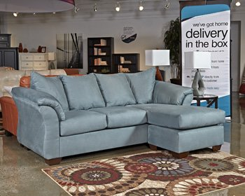 Signature Design by Ashley Darcy Right Arm Facing Loveseat, Sky