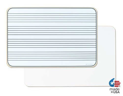 OptiMA Double Sided 12x18 Music Staff Dry Erase Lap Board. Made in the USA! ()
