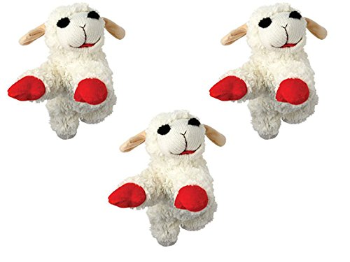 Lambchop Plush Squeaky Dog Toy, 6 Inch, Pack of 3 (Multipet Toy Dog Lamb)