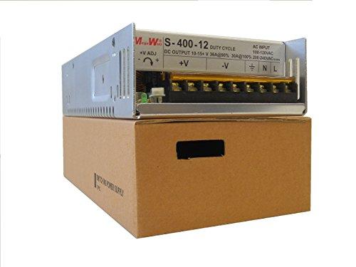 MegaWatt® S-400-12x 36 Amps 430 Watts 9.5 to 15 Volts Adjustable Ham CB Radio Power Supply 13.8V 12V Not a China Clone Real MegaWatt (Power Supply Ham Radio)