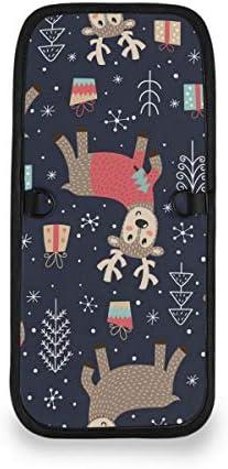 トラベルウォレット ミニ ネックポーチトラベルポーチ ポータブル クリスマス かわいい 鹿 小さな財布 斜めのパッケージ 首ひも調節可能 ネックポーチ スキミング防止 男女兼用 トラベルポーチ カードケース
