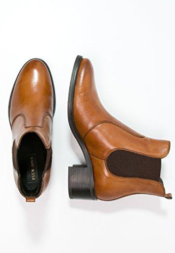 – De Jodhpur Botines Boots Mujer Ankle Con Pier Botas Elegantes Chelsea Estilo Pieza One Tobillo Cuero Elástica Tacón Beige Bajo 5xAZwWW0Eq