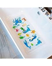 BeeHomee Bath Mats for Tub Kids - Large Cartoon Non-Slip Bathroom Bathtub Kid Mat for Baby Toddler Anti-Slip Shower Mats for Floor 35x16,Machine Washable XL Size Bathroom Mats