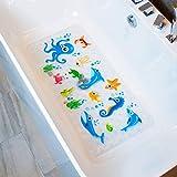 BEEHOMEE Bath Mats for Tub Kids - Large Cartoon