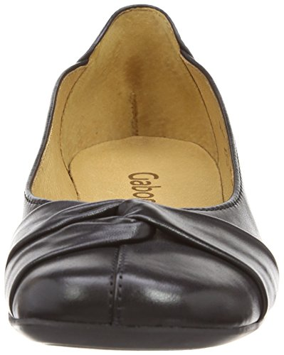 Frost Femme Ballerines Leather black Noir Gabor T8RWBq8