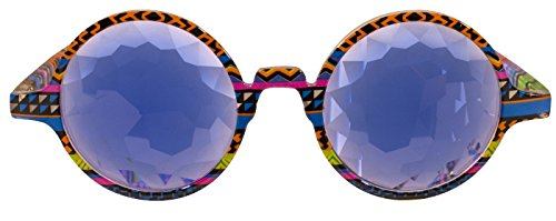 Rave Raptor Colorful Frame Kaleidoscope Glasses With Prism Diffraction