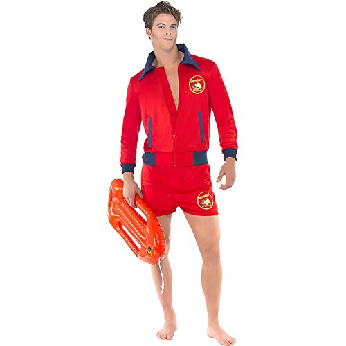 [Smiffy's Men's Baywatch Lifeguard Costume Large] (Bay Watch Costumes)