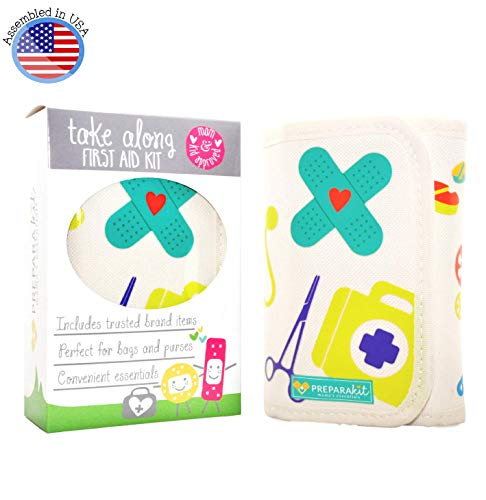 PreparaKit Travel Baby First Aid Kit 50 Essentials for Diaper Bag and Purse