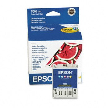 Epson® Stylus T007201, T008201 Ink Cartridge INKCART,STYLPHOT870,COL MS610K-HC (Pack of5) (Epson Stylus Photo 870)