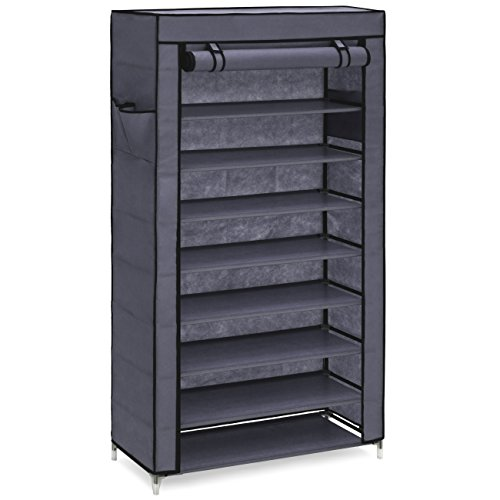 Best Choice Products 9-Tier 40 Shoe Storage Rack DIY Cabinet Organizer w/Dust Cover and 6.5in Tall Shelves - Gray