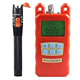 Prettyia Pack Fiber Optic Cable Tester Optical Power Meter with Sc & Fc Connector Fiber Tester +10mW Visual Fault Locator for CATV Test,CCTV Test