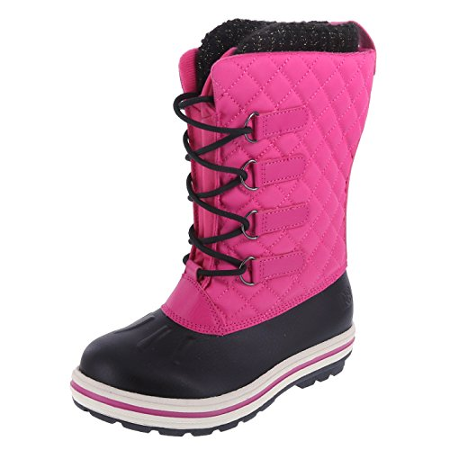 Rugged Outback Girls Puffy Weather Boots Size-5 Pink