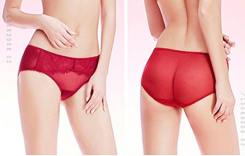 Sexy Lace Tentación baja cintura Hip Hip pantalones ( Color : Rojo , Tamaño : M ) Rojo