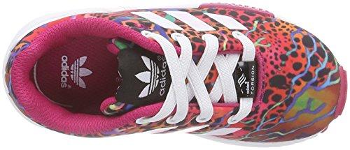 adidas ZX Flux - Zapatillas Niñas Multicolor (ftwr white/ftwr white/bold pink)