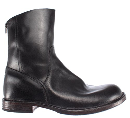 Pelle New Cuir Noir MOMA Made Italy 67702 Bottes Homme Vintage Chaussures R2 in SwqY7Xx