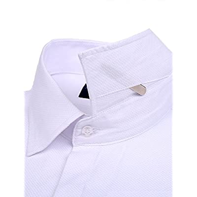80db5faea2c Alimens   Gentle Men s Dress Shirts French Cuff Long Sleeve Regular Fit (Include  Metal Cufflinks