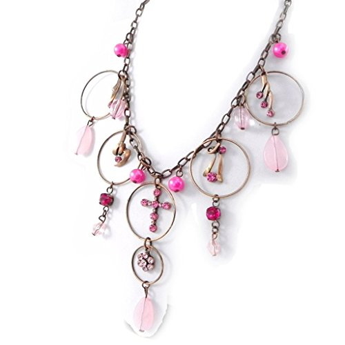Necklace 'Esmeralda' pink. - Esmeralda Costume Pattern