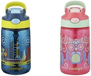 Contigo Gizmo Flip 14oz Nautical with Space Station Kids Leak-proof Water Bottle