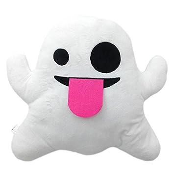 Ghost Emoji Smiley Emoticon Cushion Pillow Stuffed Plush Toy Doll