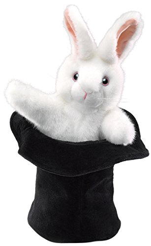 Folkmanis Rabbit In Hat Hand Puppet by Folkmanis