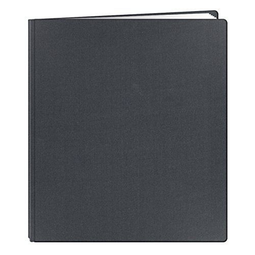 Pioneer 12 Inch by 15 Inch Postbound Family Treasures Deluxe Fabric Memory Book, Midnight Blue