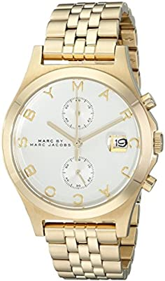 f8edc8f4fa230 Marc by Marc Jacobs The Slim Women's Silver Dial Stainless Steel Band  Chronograph Watch - MBM3379