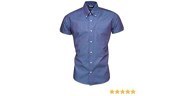 Relco Hombre Tonic Camisa Manga Corta Mod Skin Retro Indie 60 70 - Azul, S: Amazon.es: Ropa y accesorios