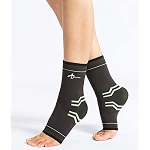Ankle Brace Support, Foot Compression Sleeves Of Running Sports Brace For Man Woman Kids Fitness, Athletics Injury Recovery, Achilles Tendon,Arch Support, Eases Swelling,