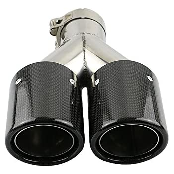 JzzCozma 2.5 inch Car Carbon Fiber Dual Exhaust Pipe Stainless Steel Muffler Tip - Gloss Finished  sc 1 st  Amazon.com & Amazon.com: JzzCozma 2.5 inch Car Carbon Fiber Dual Exhaust Pipe ...