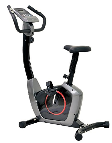 Health Gear Deluxe Magnetic Resistance Upright Bike with Pulse Black/Silver by Health Gear
