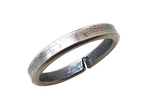 Ankita Gemstones Real Black Horse Shoe Iron Ring (Kale Ghode ki Naal Ki Ring)