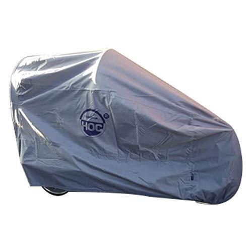 CUHOC Topkwaliteit Bakfiets hoes (met huif) Waterdicht – 3XL – 295x110x140cm – Diamond label